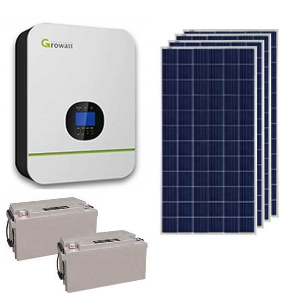 Clubview 3KW 24V Growatt 2.4kWh SLA Solar Power Kit