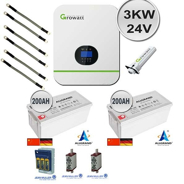 Gauteng 3Kw 24V Growatt 2.4Kw Backup Power