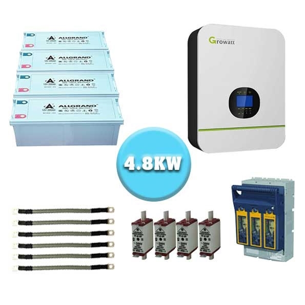 Gauteng 5kw Growatt 4 8kw backup power for load shedding