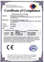 Vereeniging certificate of electrical compliance